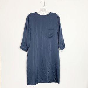 Vince | satin shift dress navy blue size small